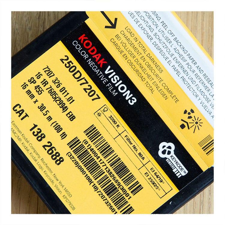 Kodak Vision 3 250D incl processing & 2.6K scan