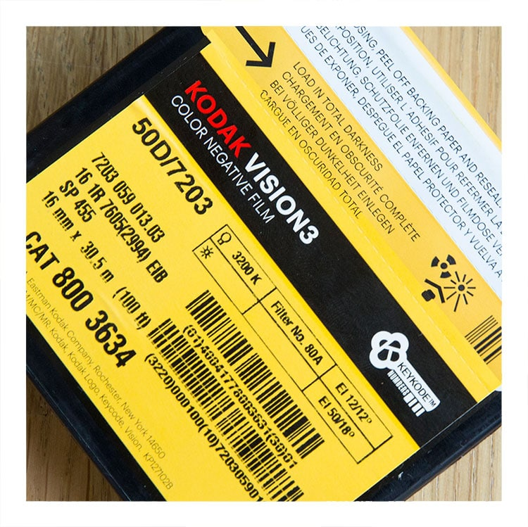 Kodak Vision 3 50D incl processing & 2.6K scan
